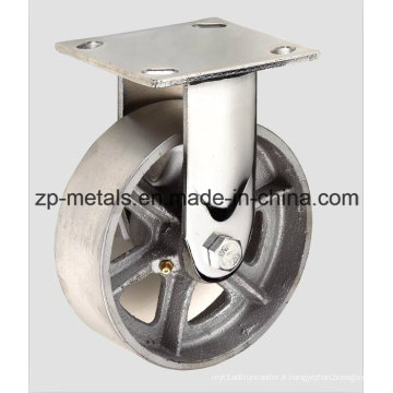 Roulette fixe en fonte robuste