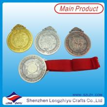 Hongkong Masonic Medal Gold Silver Bronze Medal for International Traditional Wushu Championships Medal with Red Ribbon (lzy00036)