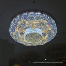 Iluminação de cristal original do candelabro do projeto 2018, dispositivo elétrico de iluminação do teto, iluminação de cristal conduzida