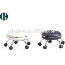 Haiyue Factory hizo cuero de pu negro ergonómico silla redonda confiable