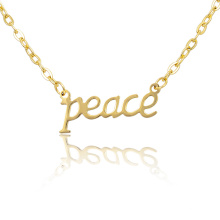 Women Gift Lucky Letter Word Peace Choker Necklace
