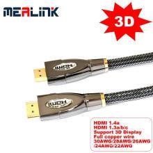 Cable HDMI 1.4V de alta velocidad (soporte 4K y 3D)