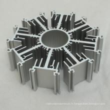 Profil en aluminium adapté aux besoins du client pour le radiateur