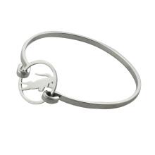 Braceletes de aço com pulseira de vaca simples para as mulheres