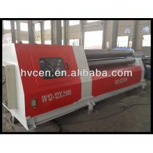 Máquina de doblado de la placa del rodillo 4 w12-12 * 2500, máquina de doblar de la placa de acero