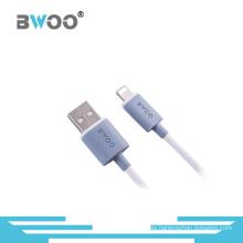 Cable de datos popular de la fábrica 8pin / marca micro del cable del USB modificada para requisitos particulares