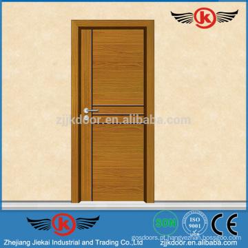 JK-W9045 Nova porta de madeira de design principal / Modelos de portas de madeira