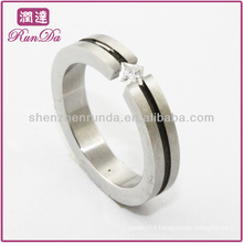hot sale steel rings crystal diamond ring