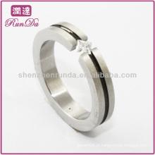 Anel de diamante de cristal dos anéis de aço da venda quente