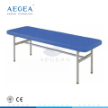 AG-ECC04 Stainless steel clinic simple platform PU waterproof patient examination medical couch