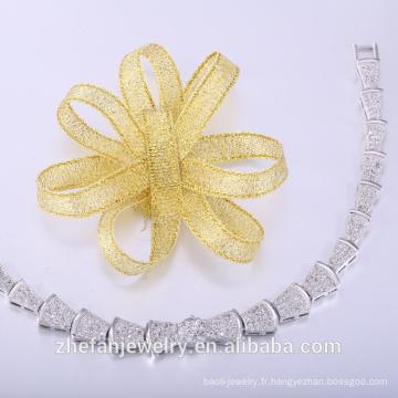 Bracelet en cuir en gros pave hihop bijoux de mode