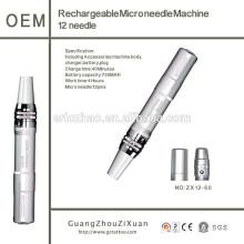 Recarregável mais recente de alta qualidade auto elétrica derma 12pin caneta micro agulha