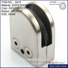 304SS / 202SS abrazadera de vidrio moldeado pequeño tamaño para el cuarto de baño