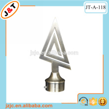 cast iron bronze extendable curtain rod with triangle finial