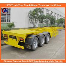 Reboque para caminhões com contêiner esquelético de 3 eixos pesados