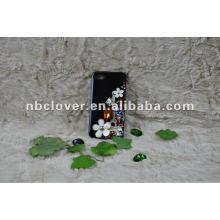 Manual bling flor teléfono móvil caso