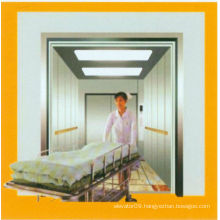 Safety Gearless Bed Elevator with Hairless Stainless Car