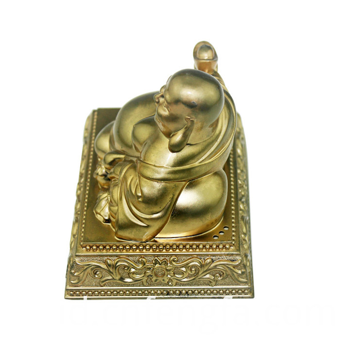Zinc alloy gold plated buddha statue