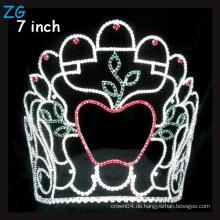 Apfel geformte Krone Farbige Rhinestone Weihnachten Festzug Tiara