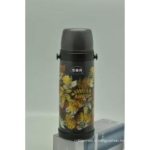 Haute qualité 304 en acier inoxydable flacon à vide double paroi flacon Svf-1000e gris
