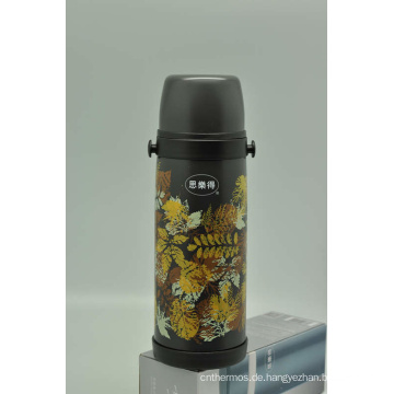 Hohe Qualität 304 Edelstahl Isolierflasche Doppelwand Isolierflasche Svf-1000e Grau
