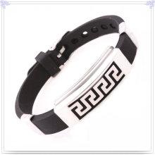 Bracelete de borracha Pulseira de silicone para pulseira magnética (LB027)