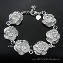 Vente en gros 925 bijoux en argent bracelet rose BSS-025