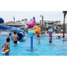 Rabbit Cartoon Aqua Play Structures, Spray Park Equipments, Water Playground Equipment