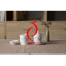 Tinta chinesa pintada à mão O chá real cerâmico da alta qualidade ajusta a China do osso para a melhor venda