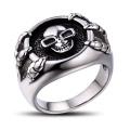 Bague en crâne pour bijoux pour hommes en acier inoxydable