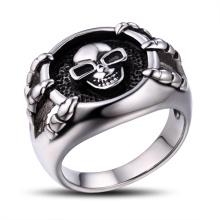 Anillo de metal cráneo de acero inoxidable