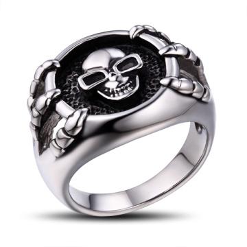 Stainless Steel Skull Metal Ring