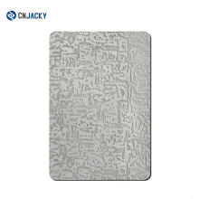 A3 / A4 / A6 geprägte Edelstahlplatte für PVC-Kartenlaminat