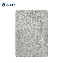 Placa de acero inoxidable en relieve A3 / A4 / A6 para la lamina de la tarjeta del PVC