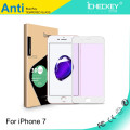 Protect Eyes Screen Film !Electroplating Anti-blue Light Carbon Fiber soft edge tempered glass for iphone 5/6/7/7plus