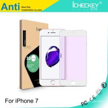 Schützen Sie Augen-Schirm-Film! Galvanisieren Sie Anti-blaues Licht Carbon-Faser weiches Rand-ausgeglichenes Glas für iphone 5/6/7 / 7plus