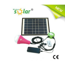 Portable Solar Energy Home Lighting System with 3W LED Lamp