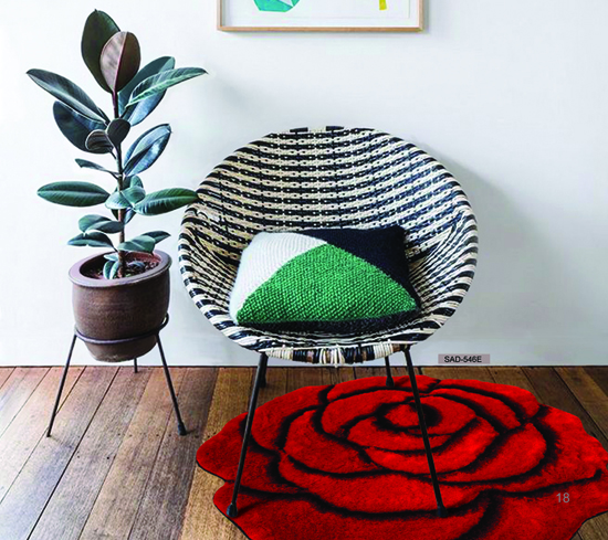 Flower shape 3D carpet