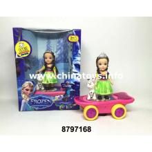 B / O Scooter de brinquedo de boneca de menina com luz e música (8797168)