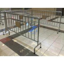Mengenkontrollschranke / Temp-Zaun für Eingang
