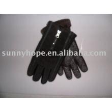 Черная свинья кожаные перчатки для верховой езды