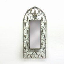 Practical Antique Metal Mirror Craft for Wall Decoration