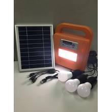 Sistema de iluminación solar LED para el hogar con radio FM y reproductor de tarjeta SD