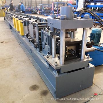 Rollo vertical del estante de almacenamiento del marco de acero del metal que forma la máquina para el purline con en la perforación del agujero de la línea