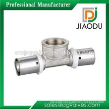 Customized antique Brass Press Fitting of Female Tee
