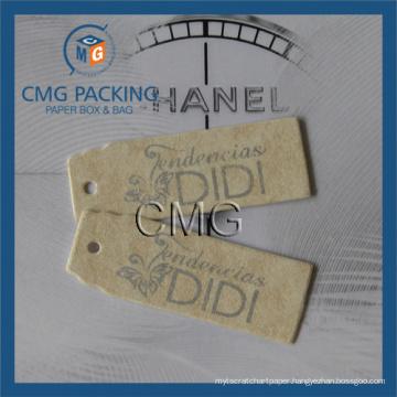 Special Cardboard Silver Printing Hang Tag
