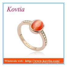 High Fashion Channel Einstellung türkischen Gold Rot Opal Ringe