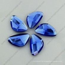 Sapphier Blue Glass Stone flache Rückseite