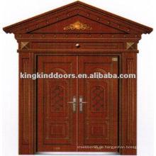Kupfer Farbe Doppelzimmer Villa Sicherheits-Tür mit Fenster JKD-9022 aus China Top 10 Marke Tür