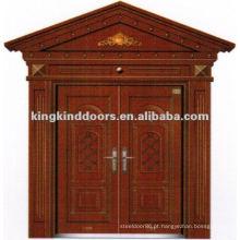 Porta de segurança tinta cobre Villa duplo com janela JKD-9022 de China Top 10 marca porta